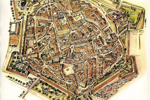 Piantine storiche Mura di Grosseto