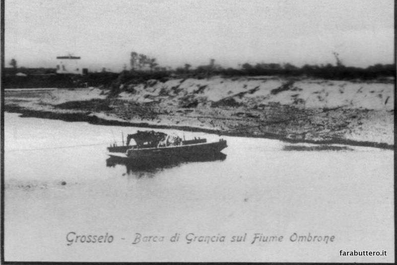 La barca di Grancia sul fiume Ombrone
